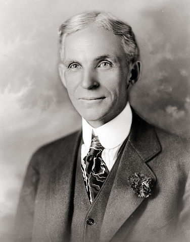 Henry Ford in 1919. Image from Wikimedia Commons, source: US Library of Congress