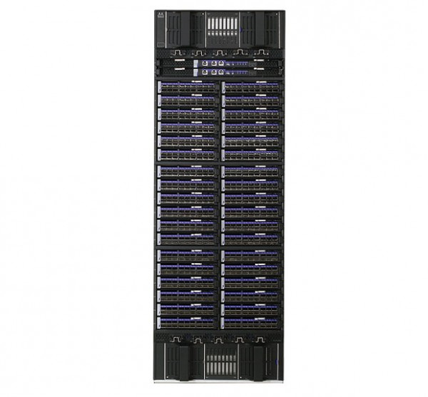Mellanox SX6536 InfiniBand Director Switch with 648 ports, tall and beautiful. Ought to be enough for anybody. Source: Mellanox.
